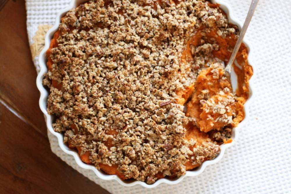 vegan thanksgiving   sweet potato casserole