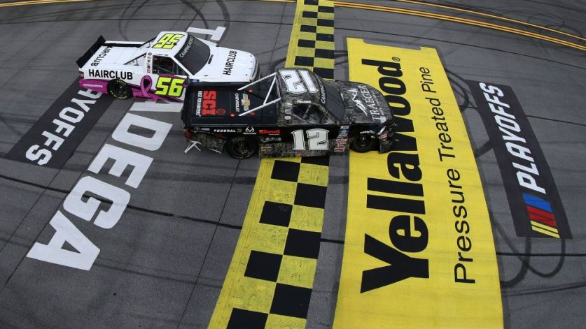 Tate Fogleman Pulls off a Real-Life 'Talladega Nights' Finish in NASCAR  Truck Series Race