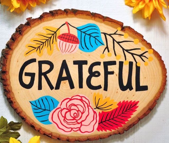 Thanksgiving Decorations Grateful Sign