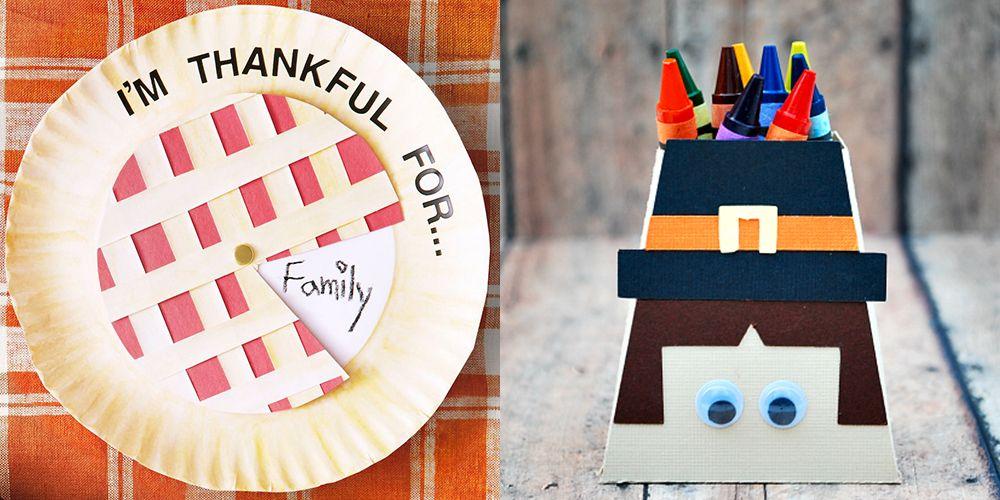 easy thanksgiving crafts set