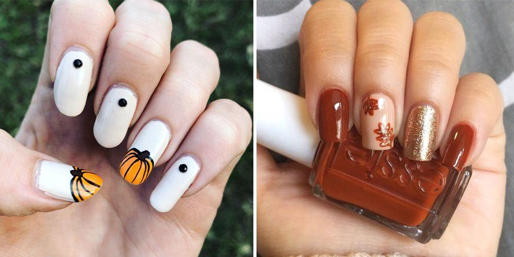 cute thanksgiving nail design
