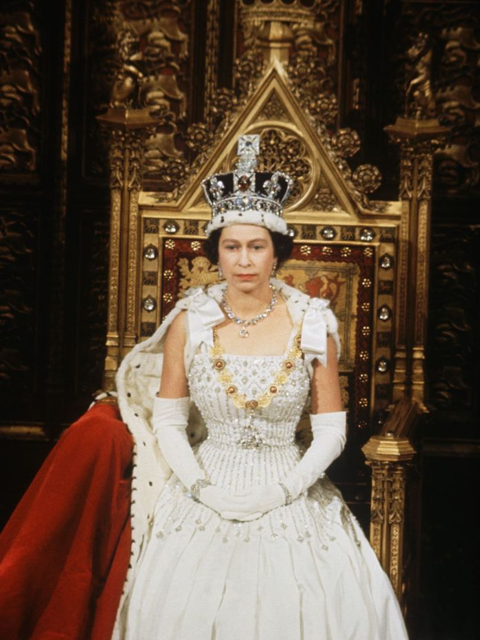 queen elizabeth at the opening of parliament in 1967