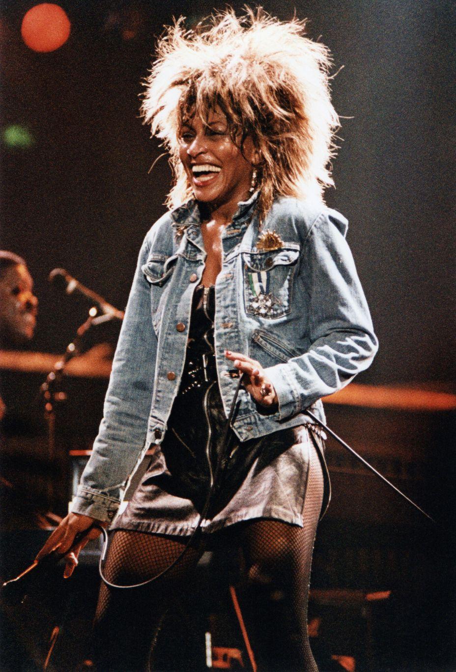 Tina Turner Performs At Wembley Arena In 1985