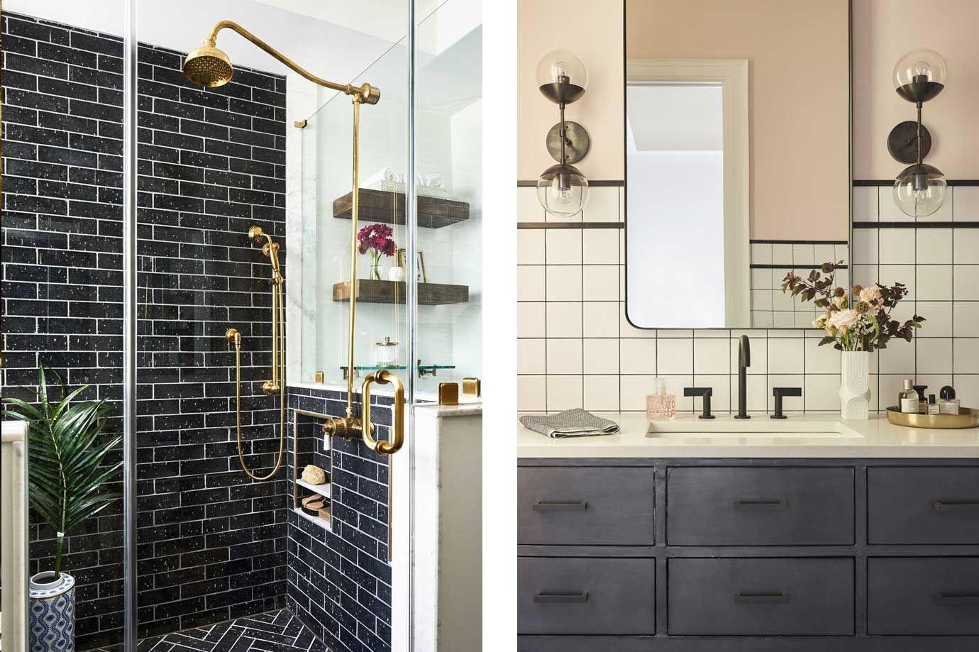 Creative Bathroom Tile Design Ideas Tiles For Floor Showers And Walls In Bathrooms