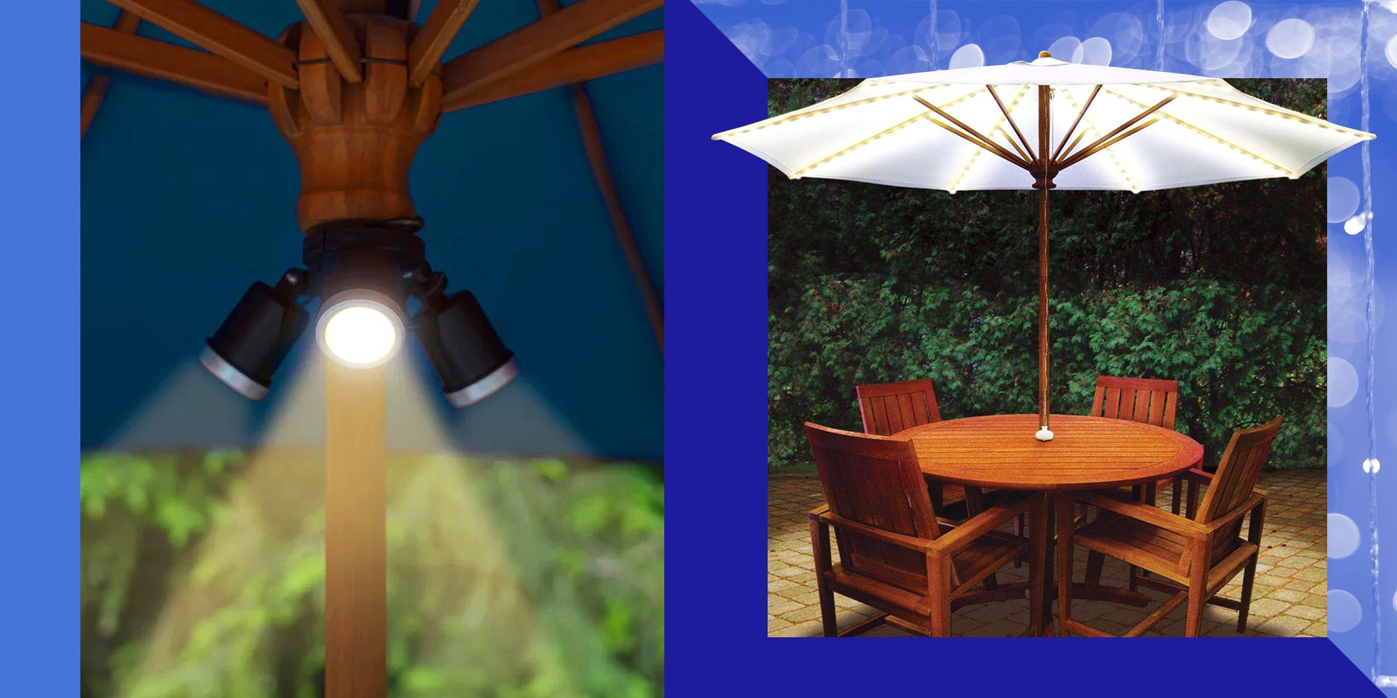 why umbrella lights are our favorite type of patio lighting
