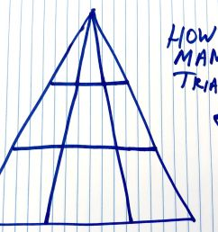 How Many Triangles Do You See - Viral Math Problem Triangle [ 953 x 2000 Pixel ]