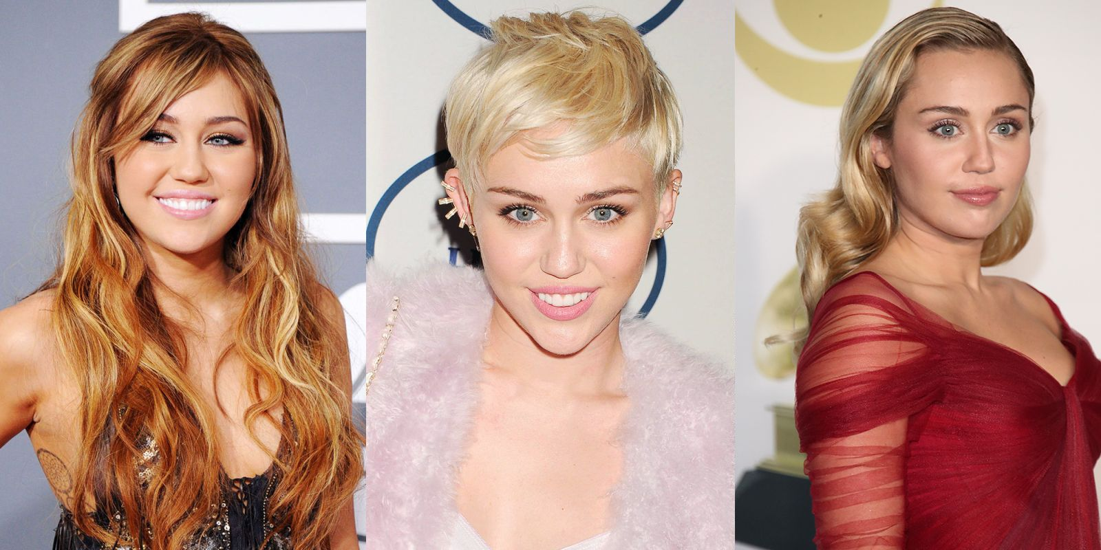 miley cyrus' hairstyles of