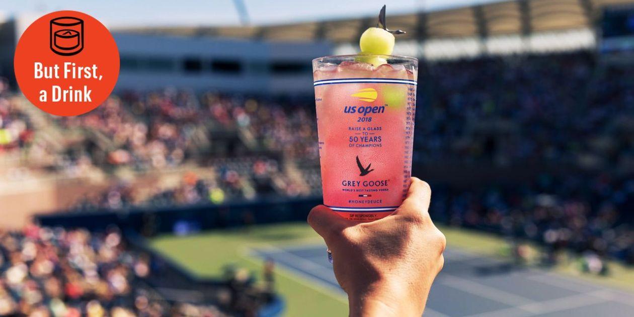 Grey Goose Honey Deuce Cocktail Recipe for the U.S. Open Tennis Tournament
