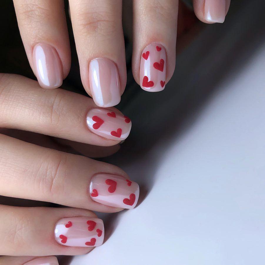 lovely valentine nail design