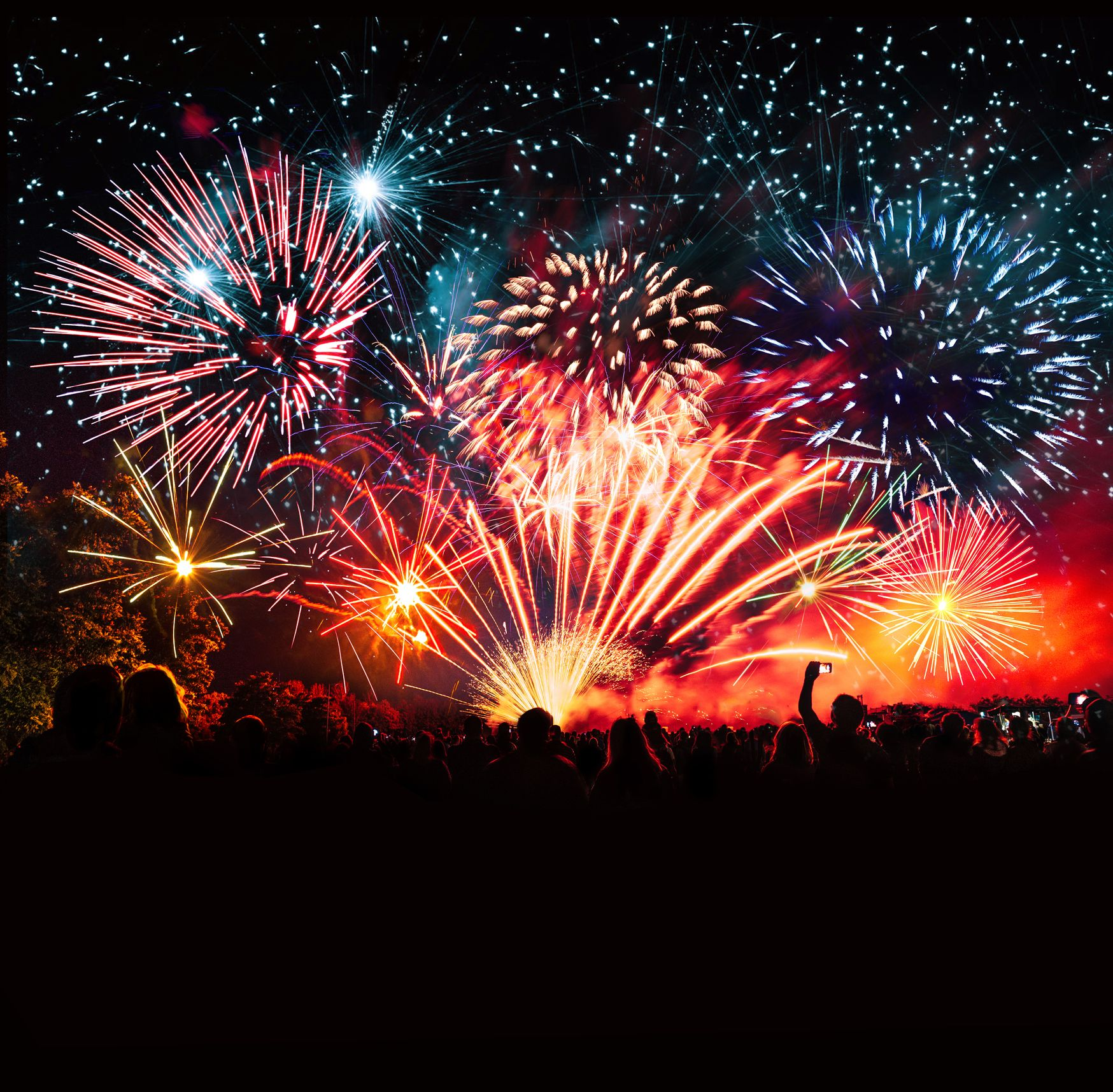 hight resolution of the science behind your favorite fireworks