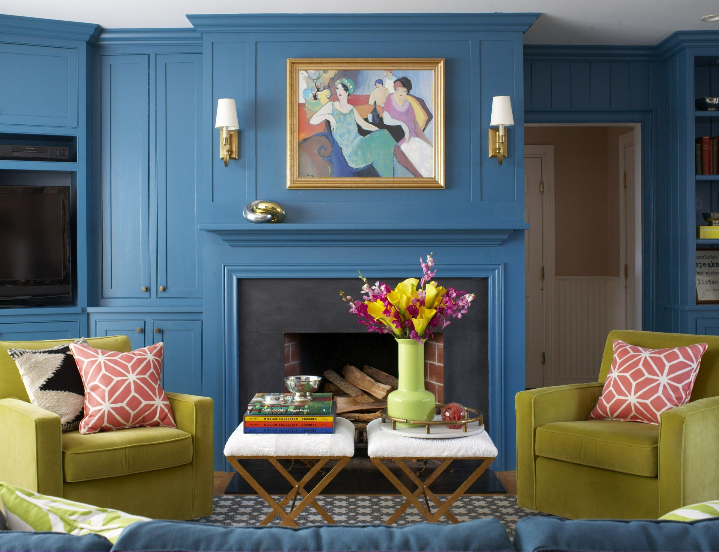 living room wall colour designs modern family ideas 40 vibrant color how to decorate with bright colors gorgeous rooms full of daring