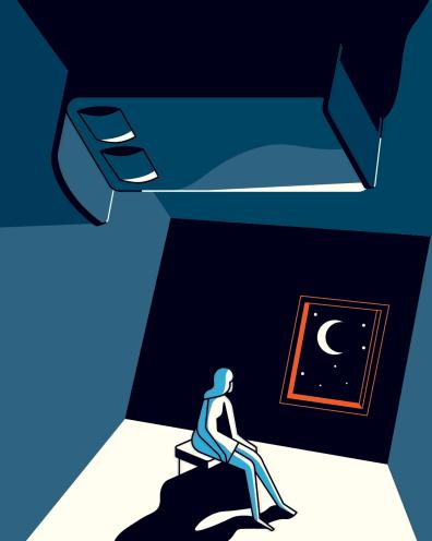 waking up at night depression
