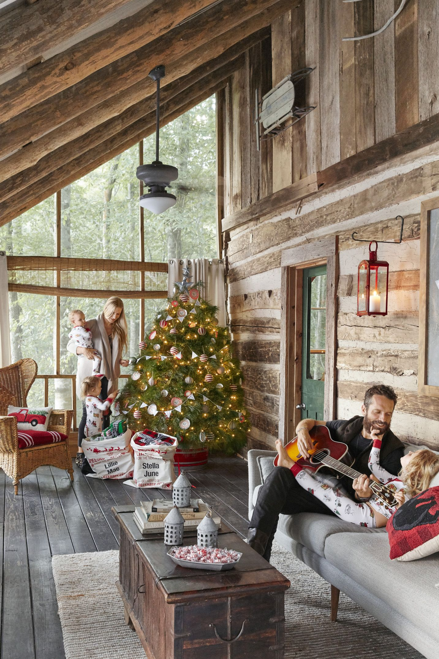 living room tree the restaurant 76 best christmas decorating ideas how to decorate a ways lights