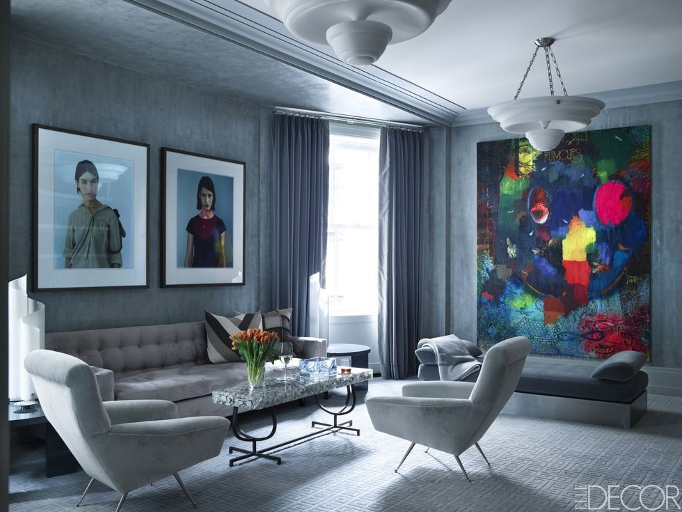 blue walls living room elegant chairs for 50 decorating ideas how to use wall paint decor