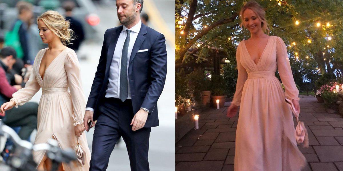 珍妮佛羅倫斯訂婚派對身上V領連身裙被熱搜!簡單卻藏不住甜蜜的「幸福洋裝」每個女人都該來一件