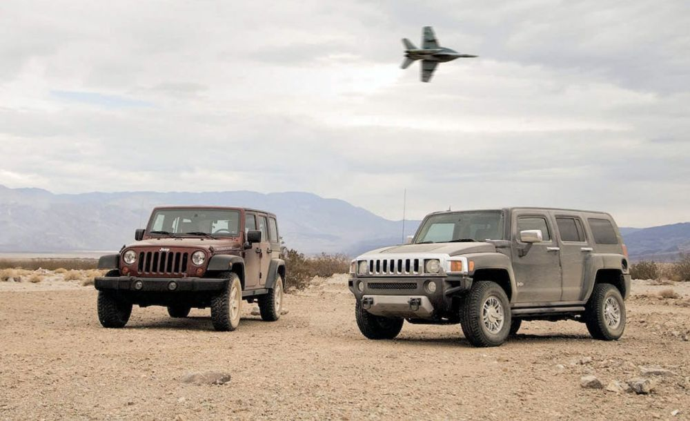 medium resolution of 2008 hummer h3 alpha vs 2008 jeep wrangler unlimited