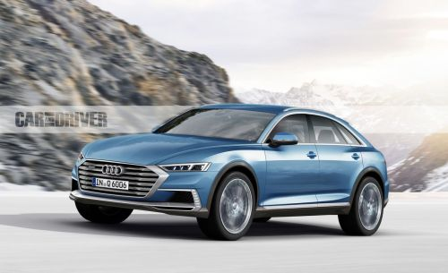 small resolution of 2019 audi q6 the four rings take on tesla