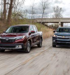 2017 chevrolet colorado 4wd vs honda ridgeline awd comparison test car and driver [ 2250 x 1375 Pixel ]