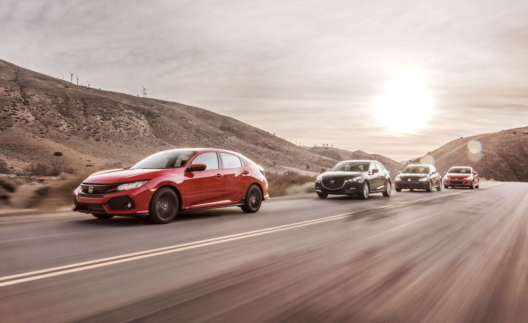 medium resolution of 2017 honda civic hatchback vs chevy cruze mazda 3 vw golfdiagram as well volkswagen
