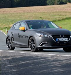 driving mazda s next mazda 3 with its skyactiv x compression ignition gas engine [ 2250 x 1375 Pixel ]