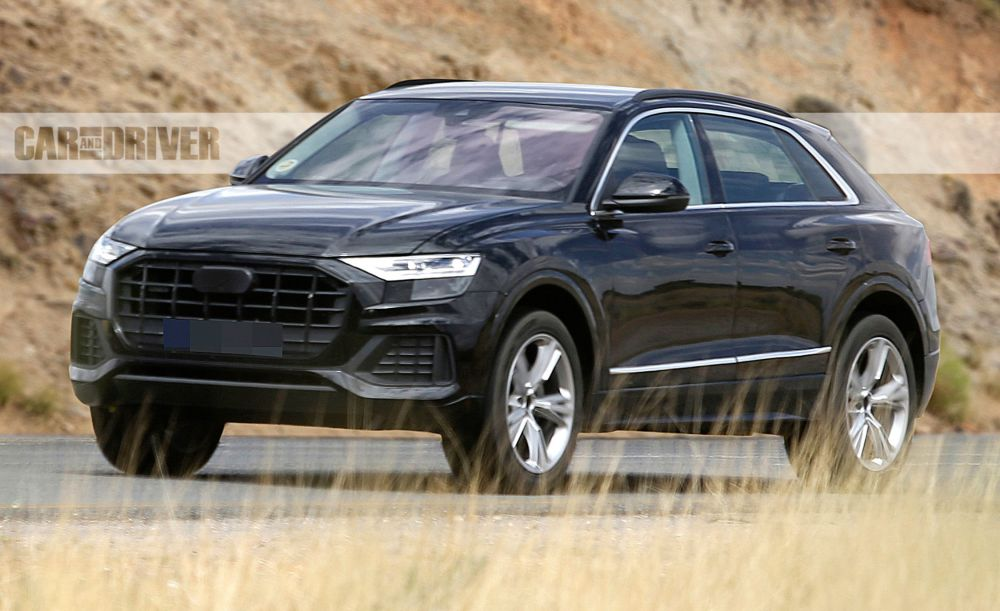 medium resolution of 2019 audi q8 flagship suv spotted basically undisguised