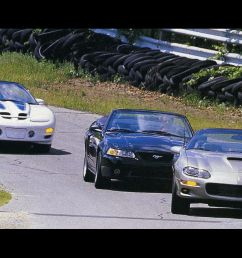 1999 ford mustang cobra convertible vs chevrolet camaro ss convertible pontiac trans am convertible 8211 comparison test 8211 car and driver [ 1280 x 782 Pixel ]