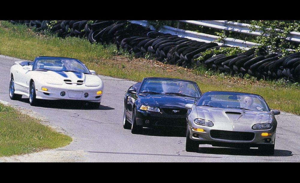 medium resolution of 1999 ford mustang cobra convertible vs chevrolet camaro ss convertible pontiac trans am convertible 8211 comparison test 8211 car and driver