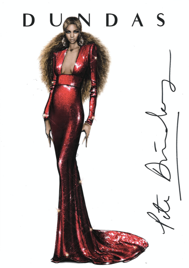 An exclusive print by Peter Dundas, who designed this look for Beyoncé to wear to the 2017 Grammys
