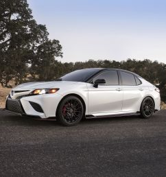 the 2020 toyota camry trd has red seatbelts and the chassis mods to back them up don t laugh it s a sporty camry trim level that toyota claims is track  [ 3600 x 2400 Pixel ]