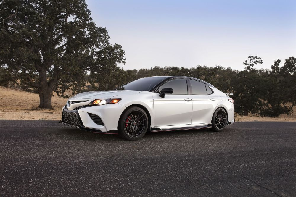 medium resolution of the 2020 toyota camry trd has red seatbelts and the chassis mods to back them up don t laugh it s a sporty camry trim level that toyota claims is track
