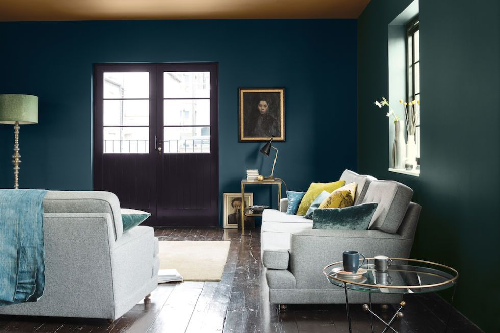 living room colour schemes traditional formal walls painted in alpine view viridian tide ceiling soft maplewood 24 49 for 2 5l dulux