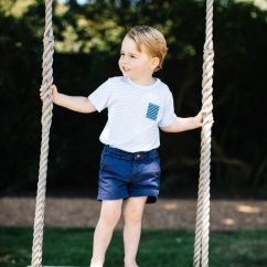 Hanging Chair Notonthehighstreet Kohls Prince George Turns 3 Sits On Kate And William S Personalised Swing From Com