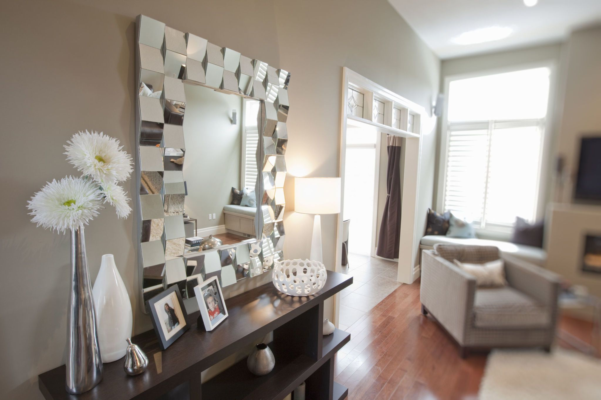 funky mirrors for living room rooms with leather furniture 10 fabulous statement wall