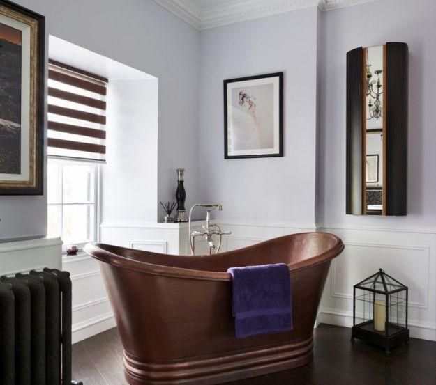 bathroom trends: copper, corner baths, designer bathroom, home spa