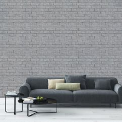 Wallpaper Living Room Wall Dark Brown Leather Sectional Ideas Stylish Brick Effect Designs Decorating Ways To Transform Your Home