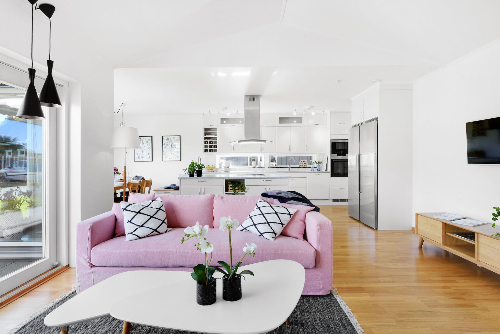 living room plan design primitive country rooms pictures how to a layout and make the best use of space interior modern with pink sofa