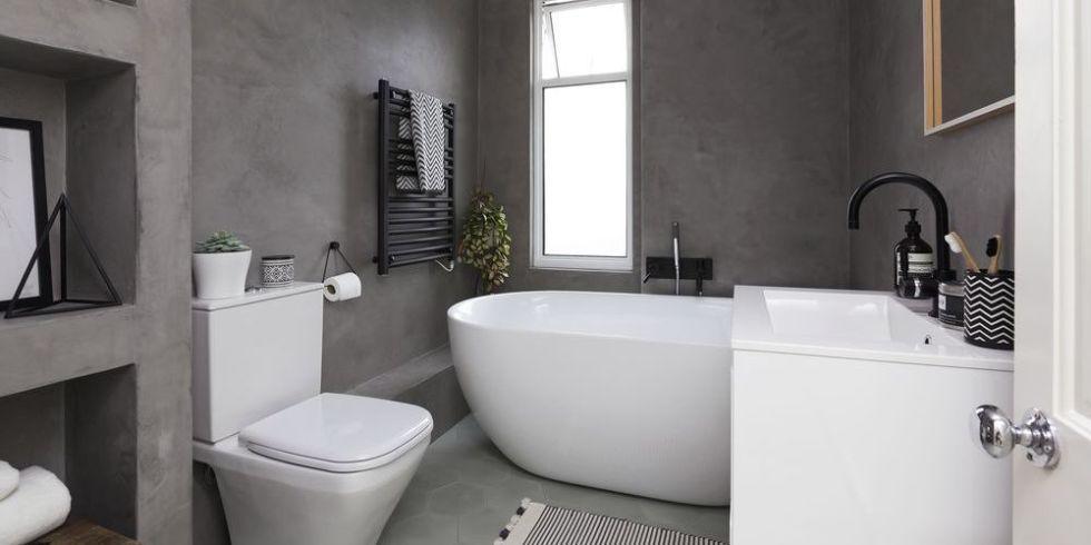 A Contemporary Black And White Small Bathroom Design
