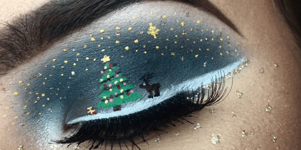 Christmas Eye Makeup Look Christmas Eyeliner And