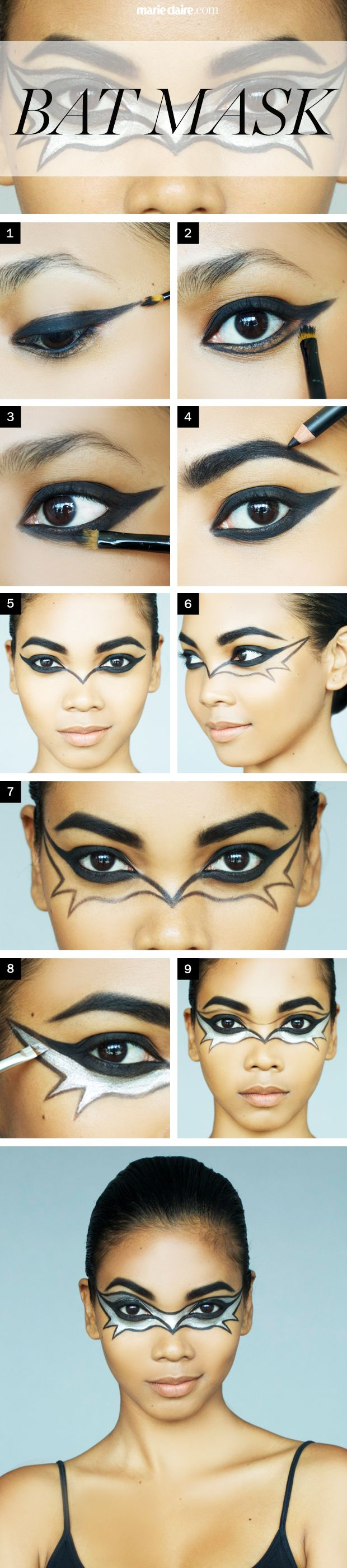 Batman Mask Makeup Tutorial Makeupsite