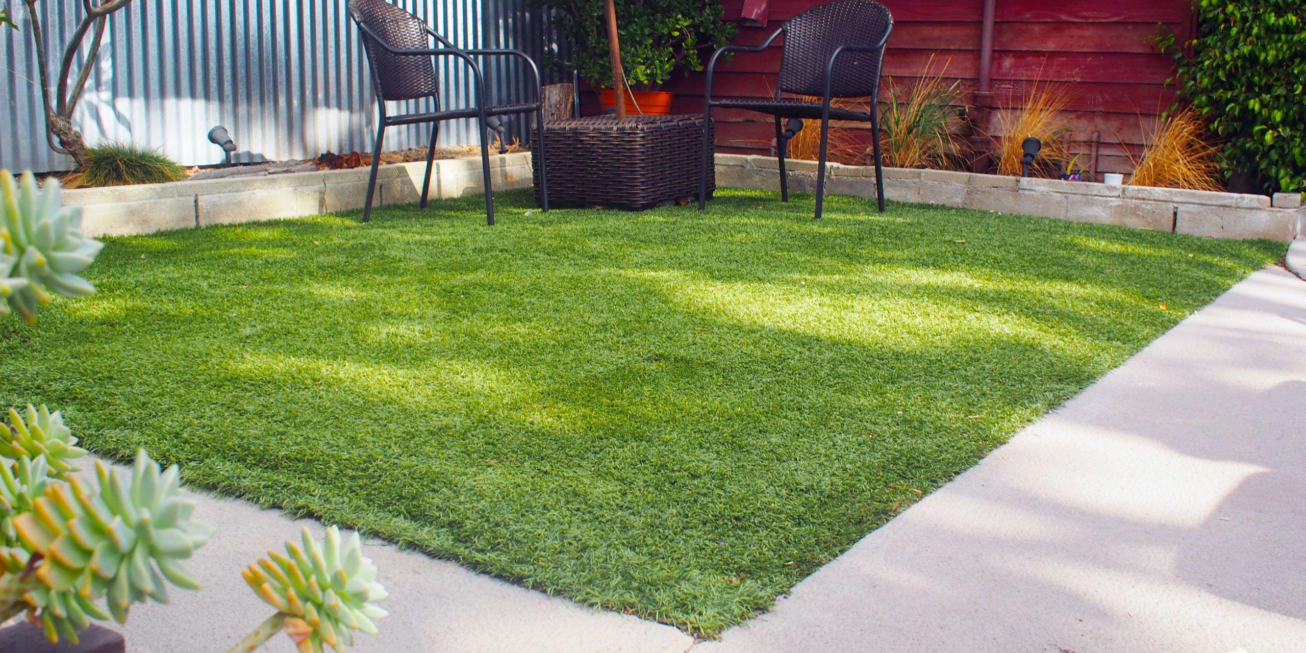 lay artificial grass