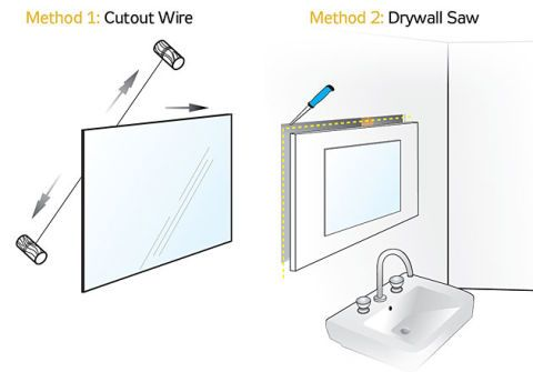 How To Remove Mirror Adhesive From Wall