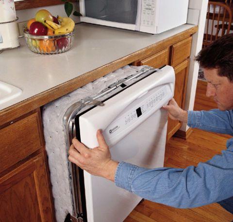 replacing a dishwasher