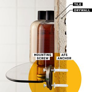 how to mount a shelf on a tile wall