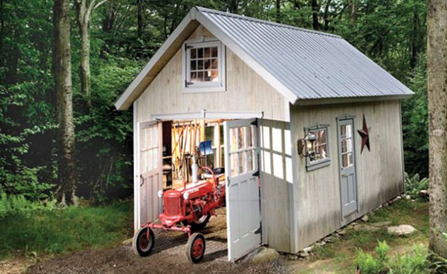 Rough Cut Lumber Shed Plans