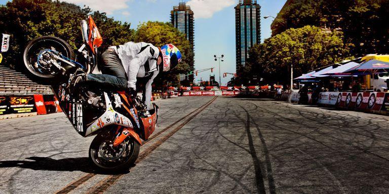 stunt bike riders are