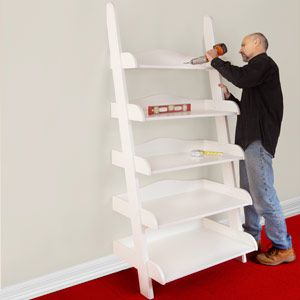 ladder shelf step by