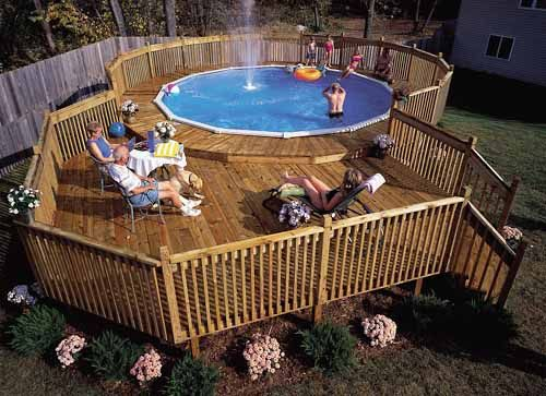 Cost to build a deck around above ground pool howsto co for Above ground pool decks cost
