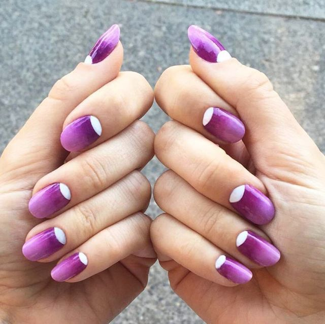 ombre nail art design adults