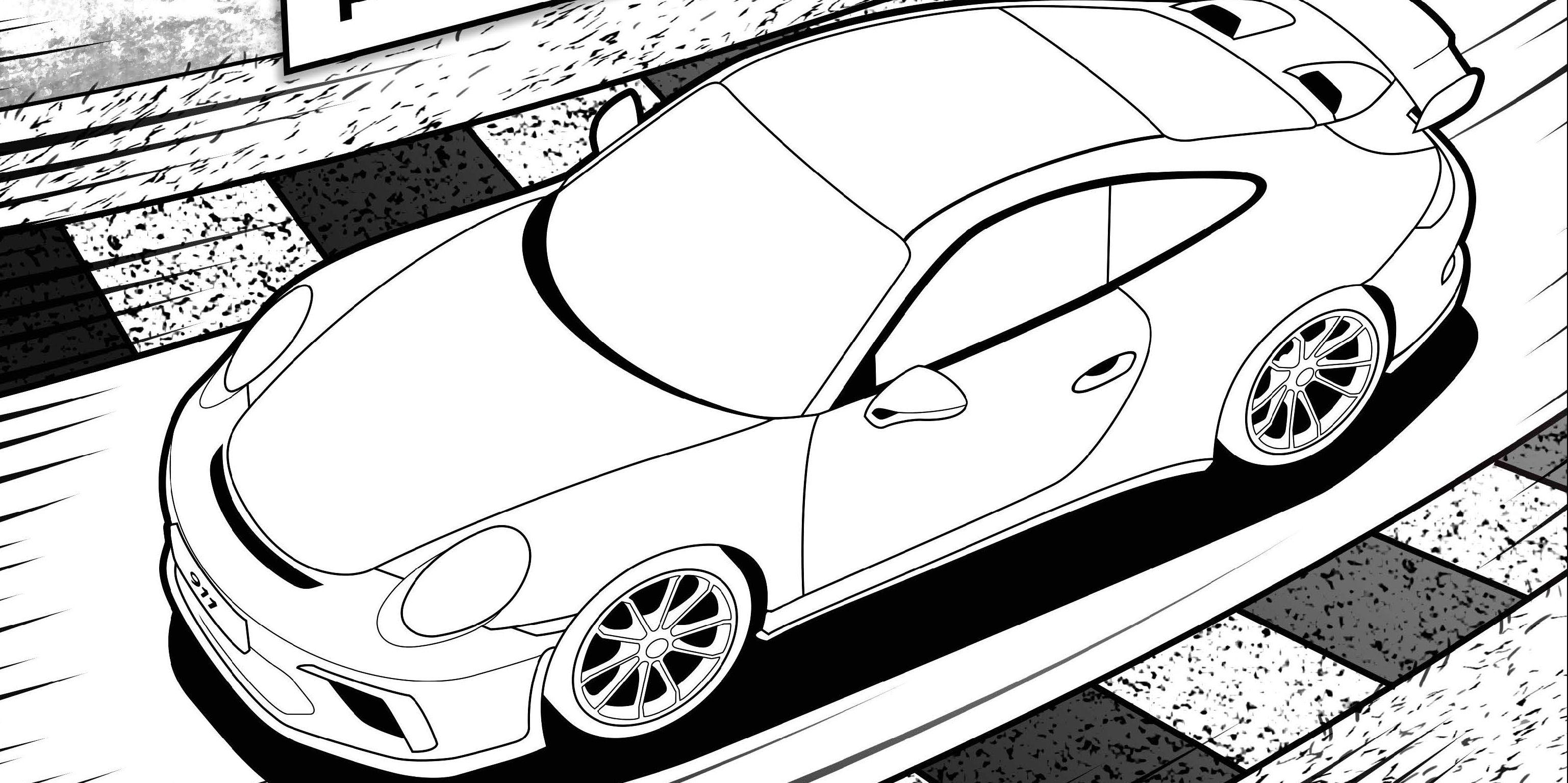 Porsche 911 Gt3 Rs Ausmalbilder