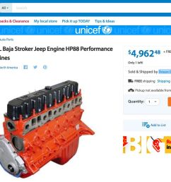 jeep 4 0 stroker engine for sale [ 1496 x 748 Pixel ]